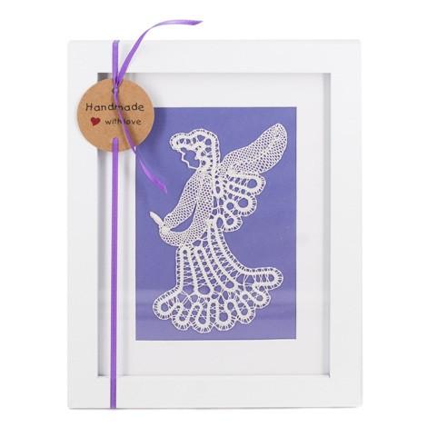 idrijska čipka, angel iz čipke, klekljana čipka angel