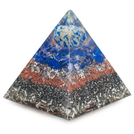 lapis lazuli, orgonite, home protection, emission protection, orgone pyramid