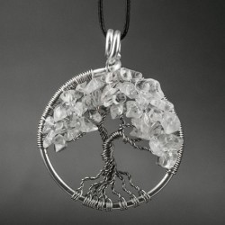 NECKLACE TREE OF LIFE quartz energy jewelry