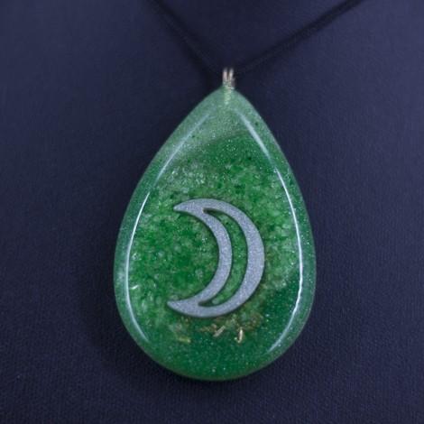 obesek ogrlica talisman astrologija luna