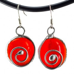 STAINED GLASS EARRINGS red