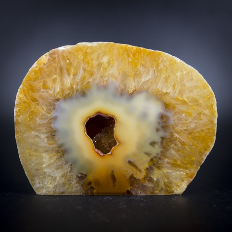 agate geode yellow