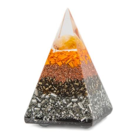 ORGONIT CITRIN piramida, zaščita doma