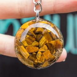 orgonit tigrovo oko obesek kristal
