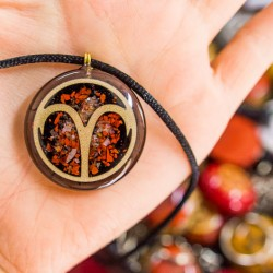 ORGONITE NECKLACE, Aries zodiac sign