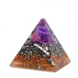 Kristal ametist, orgonit, piramida, orgonska energija
