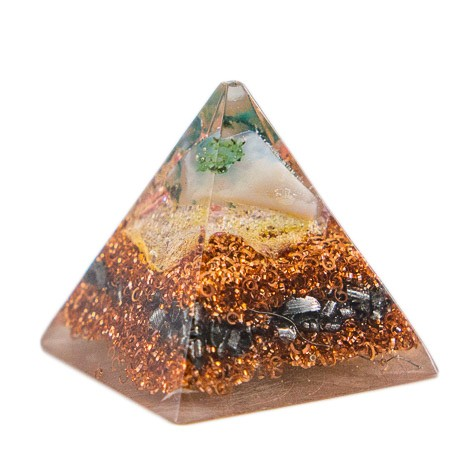 ORGONITE PYRAMID tree agate, orgone energy