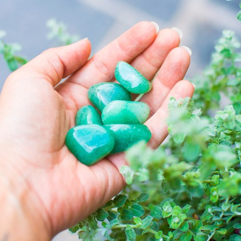 GREEN AVENTURINE pocket gemstone