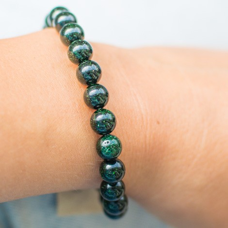 GREEN SUNSTONE bracelet energy jewelry