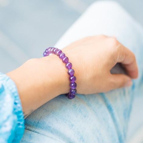 AMETHYST bracelet, energy jewelry