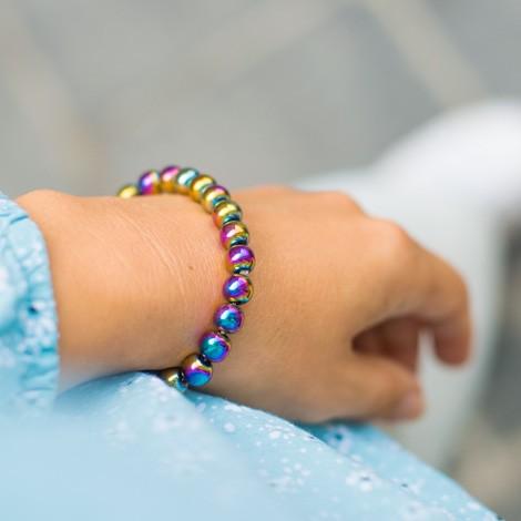 MAVRIČNI HEMATIT zapestnica , energijski nakit