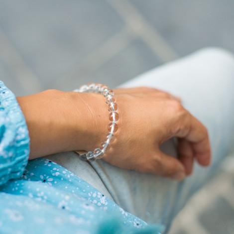 crystal quartz bracelet, energy jewelry