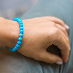 blue howlite bracelet, energy jewelry