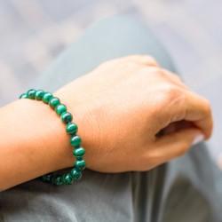 malachite bracelet, energy jewelry, crystal of general protection, balance and harmony
