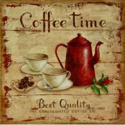 kava slika decoupage coffee time