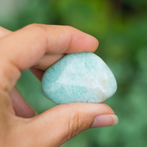 AMAZONITE pocket gemstone