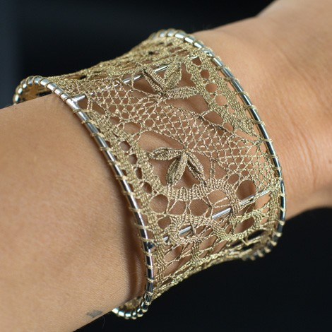 handmade, birthday gifts, lace, handmade bracelet, old gold, bracelet, jewelry