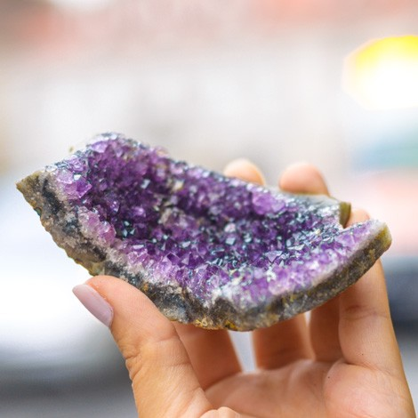 AMETHYST natural crystal cluster, cleaning space from negative energies, energy field protection