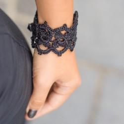 CROCHET BRACELET black