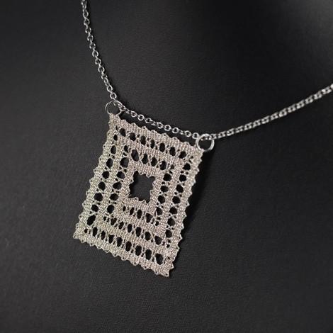 čipka, ročno izdelana, ogrlica