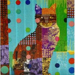 mačka slika decoupage