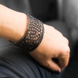 Klekljana čipka, zapestnica, nakit iz klekljane čipke, ročno delo,