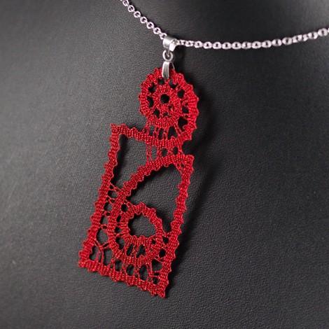 ročno izdelana, vzorec za nakit iz klekljane čipke