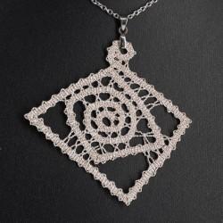 lace, handmade, crochet necklace