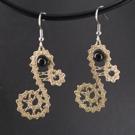 lace pattern, handmade earrings