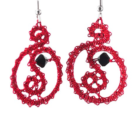 lace pattern, handmade earrings