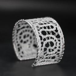 ročno izdelana zapestnica, vzorec za nakit iz klekljane čipke