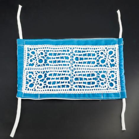 ročno izdelana maska, vzorec za nakit iz klekljane čipke, vzorec maska