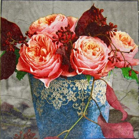 rože slika decoupage kuhinjska