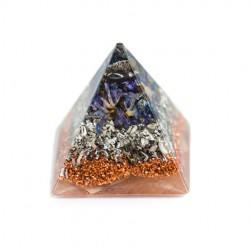 reducing tension and eliminating fears, ORGONITE PYRAMID Hematite, orgone energy