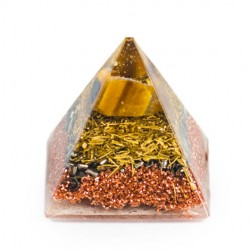 ORGONITE PYRAMID Tiger eye, orgone energy