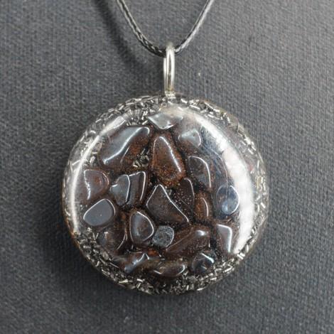 ORGONIT HEMATIT ogrlica srce, energijski nakit