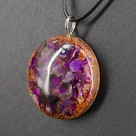 ORGONITE AMETHYST pendant