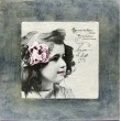 deklica slika v okvirju decoupage vintage