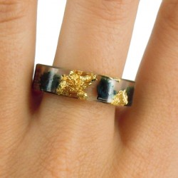 Epoxy resin ring, fashion ring