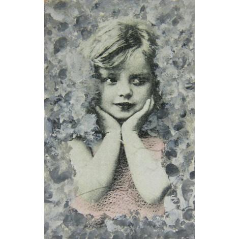 deklica slika vintage decoupage