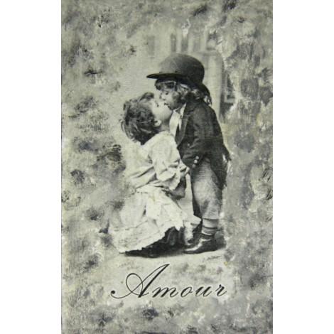 amour slika decoupage vintage