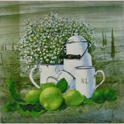 kuhinjska slika decoupage limete tihožitje