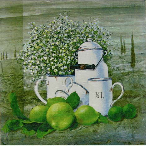 kuhinjska slika decoupage limete