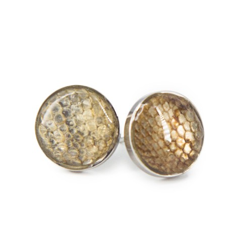 EARRINGS FROM SNAKESKIN