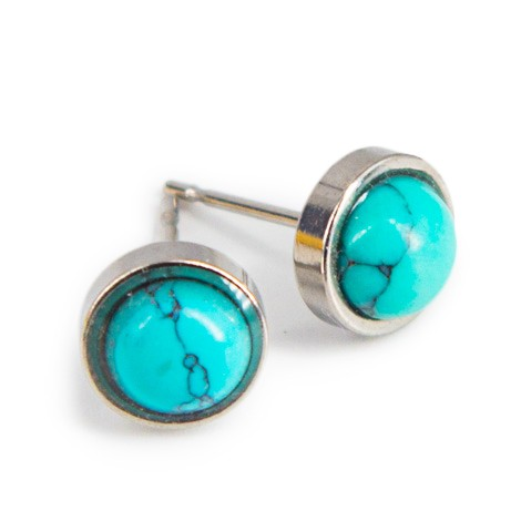 BLUE HOWLITE mini earrings