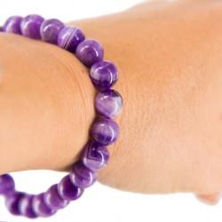 AMETHYST BRACELET large beads
