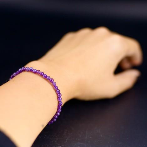AMETHYST BRACELET small beads