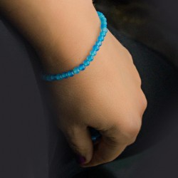BLUE AGATE BRACELET small beads