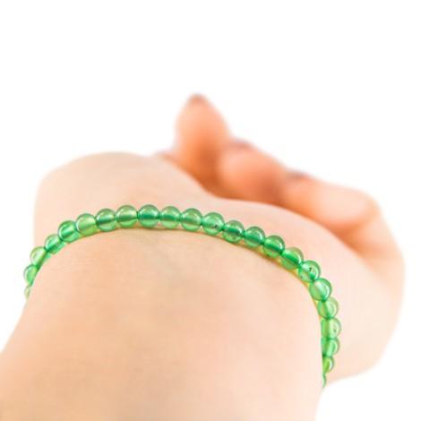 GREEN AGATE BRACELET small beads