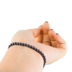 HEMATITE BRACELET small beads, hematite protective stone